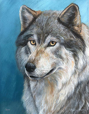 Art Print featuring the painting Luna by Sherry Shipley