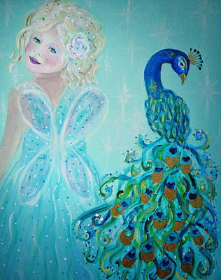 Painting - Luna Shows Her Feathers by The Art With A Heart By Charlotte Phillips