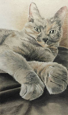 Drawing - Luna-tuna-tic by Rowena McPherson