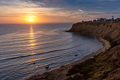 Photograph - Lunada Bay Sunset by Ed Clark