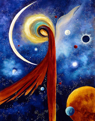 Print featuring the painting Lunar Angel by Marina Petro