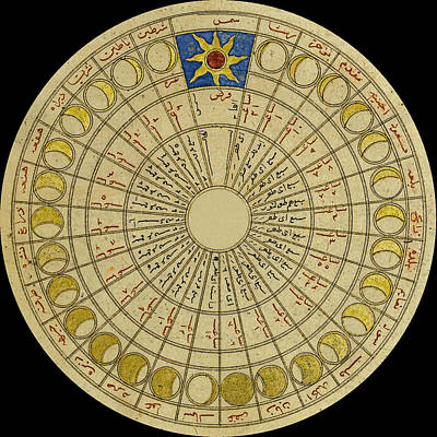 Photograph - Lunar Chart 1450 by Andrew Fare