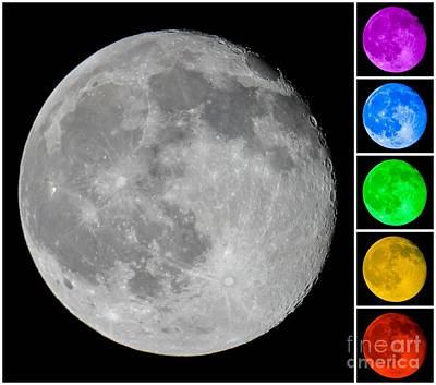 Photograph - Lunar Color Shots 02 by Kip Vidrine
