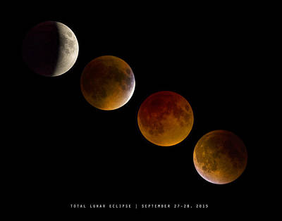 Lunar Eclipse 2015 Art Print