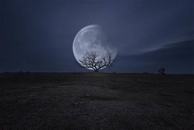 Photograph - Lunar Eclipse by Aaron J Groen