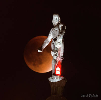 Photograph - Lunar Eclipse And Sower by Mark Dahmke