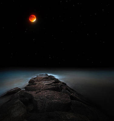 Photograph - Lunar Eclipse by Bill Wakeley