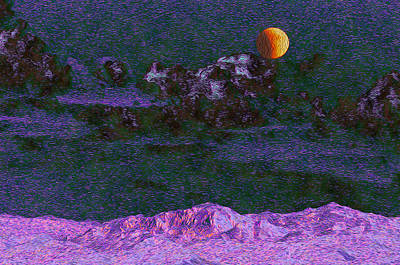 Photograph - Lunar Eclipse From The Altered Zone by Lynda Lehmann