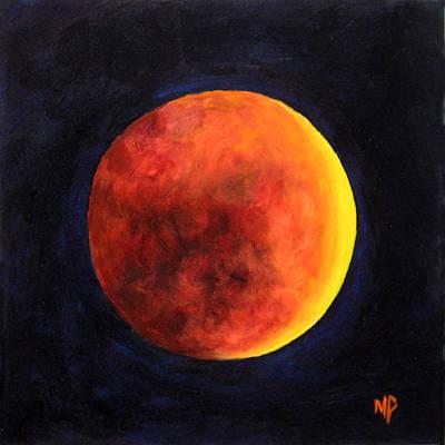 Lunar Eclipse Art Print by Marina Petro