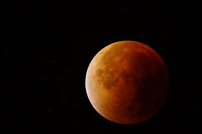 Photograph - Lunar Eclipse by Ron Harpham