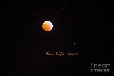South Louisiana Photograph - Lunar Eclipse by Scott Pellegrin