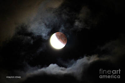 Photograph - Lunar Eclipse Supermoon Bloodmoon Ix September 27th 2015 by Verana Stark