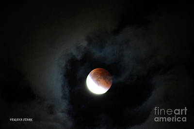 Photograph - Lunar Eclipse Supermoon Bloodmoon Vi September 27th 2015 by Verana Stark