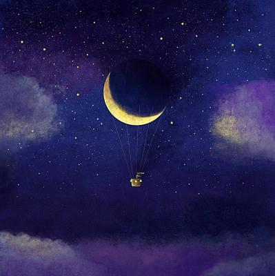 Mixed Media - Lunar Flight by Roberto Weigand
