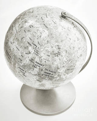 Photograph - Lunar Moon Globe by Edward Fielding