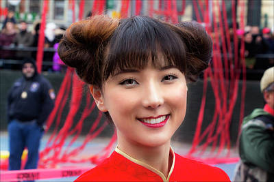 Lunar New Year Nyc 2017 Woman Performer Art Print