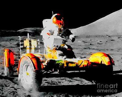 Lunar Roving Vehicle Print by Art Gallery