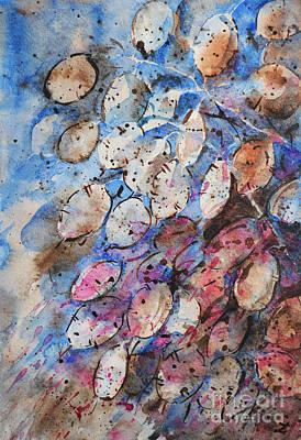 Painting - Lunaria, Annual Honesty by Zaira Dzhaubaeva