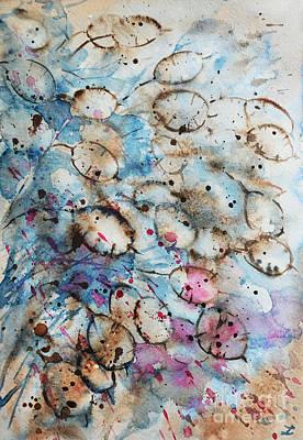 Painting - Lunaria, Silver Dollar by Zaira Dzhaubaeva