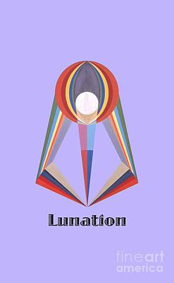 Painting - Lunation Text by Michael Bellon