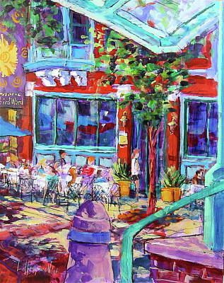 Painting - Lunch Alfresco by Les Leffingwell