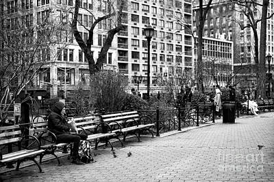 Lunch At Union Square Park Print by John Rizzuto