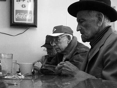 Photograph - Lunch Counter Boys - Black And White by Tim Nyberg