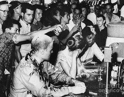 Photograph - Lunch Counter Sit-in, 1963 by Granger