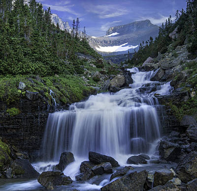 Photograph - Lunch Creek Basin - Glacier National Park   by Expressive Landscapes Nature Photography