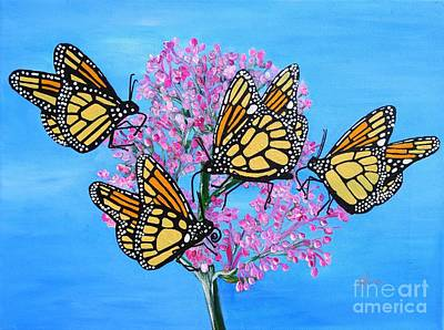 Painting - Butterfly Feeding Frenzy by Karen Jane Jones