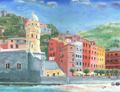 Lunch Hour At Vernazza Art Print
