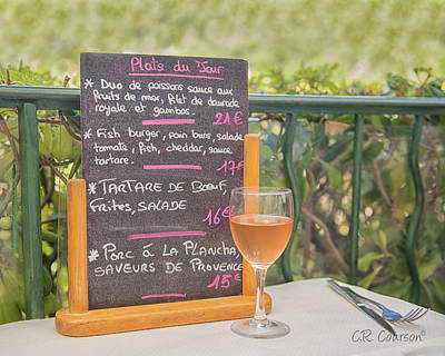 Photograph - Lunch In Provence by CR Courson
