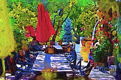 Digital Art - Lunch In Wine Country by Kirt Tisdale