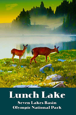 Digital Art - Lunch Lake by Chuck Mountain