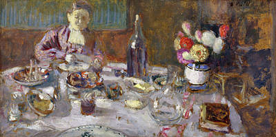 Meal Painting - Luncheon by Edouard Vuillard