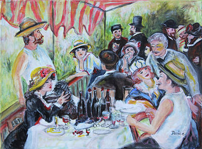 Painting - Luncheon Of The Boating Party by Denice Palanuk Wilson