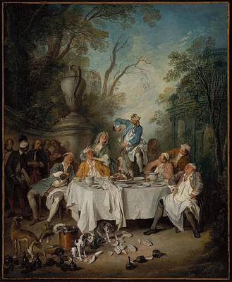 1743 Painting - Luncheon Party In A Park by MotionAge Designs