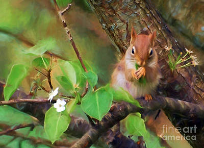 Photograph - Lunching In The Leaves by Kerri Farley