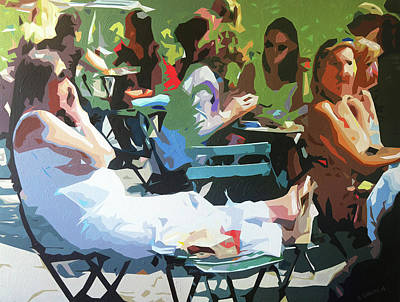 Lunchtime In Bryant Park Art Print by Sabino Caputo