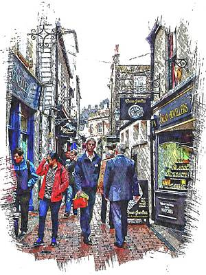Photograph - Lunchtime In The Lanes Brighton by Dorothy Berry-Lound