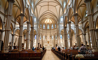 Lunchtime Mass At Saint Paul Cathedral Pittsburgh Pa Art Print