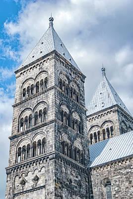 Photograph - Lund Cathedral In Sweden by Antony McAulay