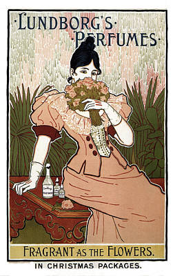 Mixed Media - Lundborg's Perfumes - Vintage Advertising Poster by Studio Grafiikka