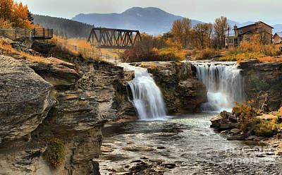 Photograph - Lundbreck Falls Provincial Park by Adam Jewell