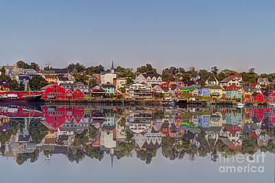 Photograph - Lunenburg Harbor In Nova Scotia Reflection by Dan Friend