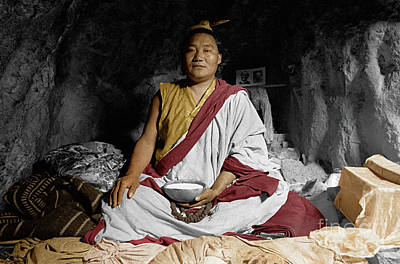 Photograph - Lundup Dorje A Cave Dwelling Repa - Tibet by Craig Lovell