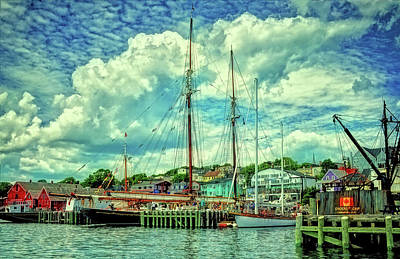 Photograph - Lunenburg Harbor by Rodney Campbell