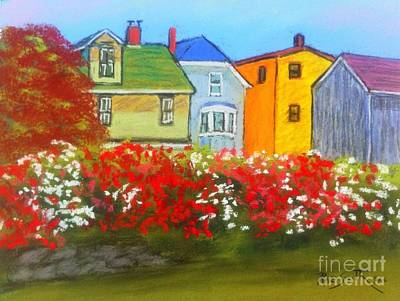 Pastel - Lunenburg Roses by Rae  Smith PAC