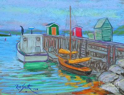 Lunenburg Waterfront  Art Print by Rae  Smith