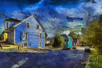 Digital Art - Lunenburg,nova Scotia by Eva Lechner